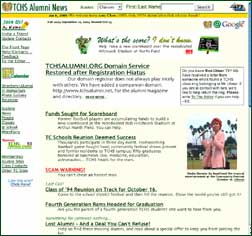 screen shot of web page